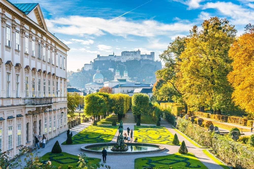 Mirabell Palace, with views to Salzburg, Austria